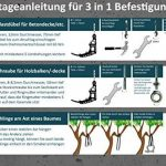 3en 1Kit de fixation, fixation pour fauteuil suspendu: rapide, sûre, propre & Compact de la marque Kliffhänger image 4 produit