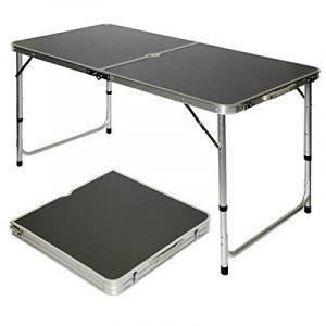 AMANKA Table de Camping Portable Pliante en Mallette Table de pique-nique Réglable en Hauteur env 120x60cm Gris Foncé de la marque AMANKA image 0 produit