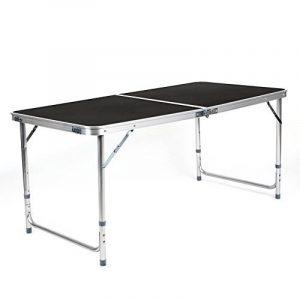 Amzdeal Table Camping portable, Table buffet traiteur pliante 120 cmavec poignée pour pique-niques, camping, barbecues- Noir de la marque Amzdeal image 0 produit