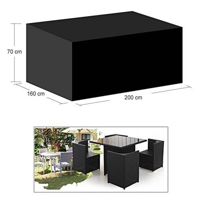 housse de protection salon de jardin rectangulaire pour. Black Bedroom Furniture Sets. Home Design Ideas