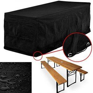 Bâche gris anthracite résistante aux intempéries et déchirures - 180x95x76cm - Pour ensemble tables et bancs de la marque Deuba image 0 produit