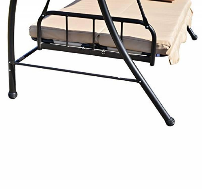 Balancelle de jardin pour 2018 faites le bon choix - Balancelle convertible en lit de jardin ...
