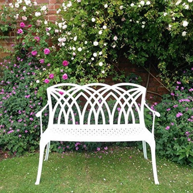 banc de jardin en aluminium blanc acheter les meilleurs mod les pour 2018 meilleur jardin. Black Bedroom Furniture Sets. Home Design Ideas
