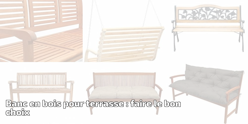 banc en bois pour terrasse faire le bon choix pour 2018. Black Bedroom Furniture Sets. Home Design Ideas