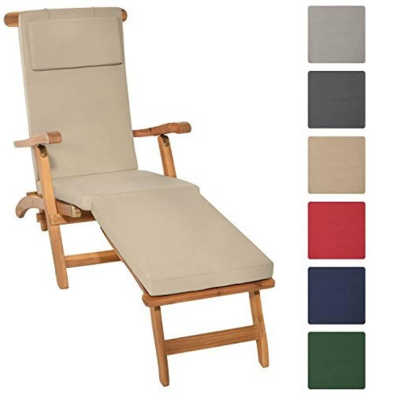 eb13ab43a04e95 Relaxdays Chaise Longue  à roulettes Transat Pliable Plage Jardin  Relaxation avec Pare-Soleil Dossier