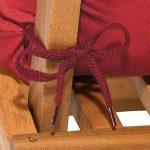 Beautissu Matelas Coussin pour chaise fauteuil de jardin terrasse Flair NL 100x50x8cm - Gris graphite de la marque Beautissu image 6 produit