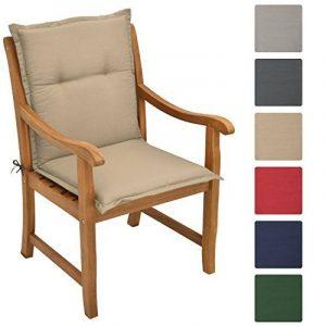 Beautissu Matelas Coussin pour chaise fauteuil de jardin terrasse Loft NL 100x50x6cm - Nature de la marque Beautissu image 0 produit