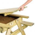 Blumfeldt Table de jeux ou pique nique (idéal pour enfants, bac à sable intégré, résistant aux intempéries grâce à son traitement autoclave) - bois de la marque Blumfeldt image 3 produit