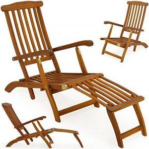 Chaise longue en bois Queen Mary - Transat Bain de Soleil Jardin Siège Relax de la marque Deuba image 0 produit