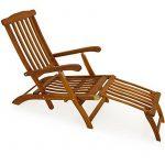 Chaise longue en bois Queen Mary - Transat Bain de Soleil Jardin Siège Relax de la marque Deuba image 1 produit