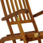 Chaise longue en bois Queen Mary - Transat Bain de Soleil Jardin Siège Relax de la marque Deuba image 2 produit