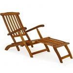 Chaise longue en bois Queen Mary - Transat Bain de Soleil Jardin Siège Relax de la marque Deuba image 3 produit