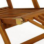 Chaise longue en bois Queen Mary - Transat Bain de Soleil Jardin Siège Relax de la marque Deuba image 4 produit