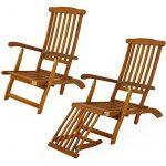 Chaise longue en bois Queen Mary - Transat Bain de Soleil Jardin Siège Relax de la marque Deuba image 5 produit