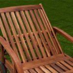 Chaise longue Tami Sun en bois d'acacia 200cm - transat bain de soleil de la marque Deuba image 2 produit