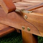 Chaise longue Tami Sun en bois d'acacia 200cm - transat bain de soleil de la marque Deuba image 4 produit
