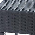 CLP Table basse design MIAMI, hauteur 45 cm, en plastique à l´aspect de rotin, empilable, résistant aux UV & à l´eau, garde sa couleur gris foncé, 45 x 45 cm de la marque CLP image 2 produit