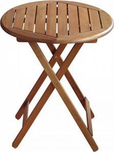 Colourliving® Table pliante table de jardin en bois massif Acacia Table Rond 60cm en bois meubles de jardin de la marque colourliving image 0 produit
