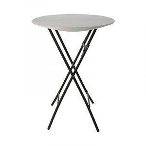 Durée de vie 803622,7m (0,84M)–Table pliante ronde BISTRO–Blanc de la marque Lifetime image 0 produit