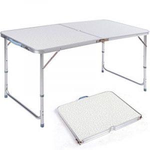 DXP Table De Camping Pliante Alu Pour Pique-Nique Hauteur Reglable 120x60x (55-70) cm de la marque DXP-jardin image 0 produit