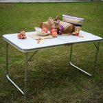DXP Table De Camping Pliante Alu Pour Pique-Nique Hauteur Reglable 120x60x (55-70) cm de la marque DXP-jardin image 1 produit