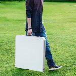 Finether Table de Jardin Pliant Portable en Aluminium Réglable en Hauteur avec Parasol Trou Multi-Usage Intérieur Extérieur Activité Pique-nique Table Camping 55 Lb Capacité 47.2 par 23.6 Pouces Dessus de Table de la marque Finether image 2 produit