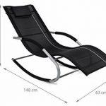 Home Kraft Java Rock Chaise longue bain de soleil chaise longue à bascule chaise longue relax chaise longue fauteuil à bascule gris de la marque HomeKraft image 3 produit