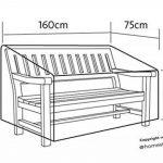 Housse de protection pour banc de jardin avec accoudoires droits – Épais et de haute qualité durable 600D Polyester toile avec des coutures doubles pour plus de solidité, All-résistant aux intempéries et anti-humidité, Dimensions: 160 (L) x 75 (p) x 96.5/ image 1 produit