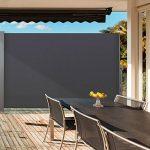 IDMarket - Paravent rétractable 300 x 140 cm store gris latéral enroulable de la marque IDMarket image 3 produit