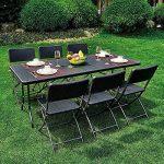 IKAYAA Table Pliante 180cm Camping Table de Jardin de Pique-nique Outdoor Portable Pour la fête Barbecue Repas Cuisine 180 X 75 X 72cm de la marque IKAYAA image 3 produit