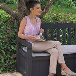 Keter 12-923423 Coffre Banc pour le Jardin Polypropylène Gris Anthracite 140 x 60 x 84 cm de la marque Chalet-Jardin image 1 produit