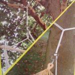Kit siège suspendu Fauteuil douillet «Fashion blanc» incl. attache et crochet plafond/cheville + printemps de la marque Leguana image 2 produit