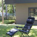 Lafuma Fauteuil Relax, Position réglable, Structure en acier HLE, Air Comfort, Futura, Couleur : Acier, LFM30516135 de la marque Lafuma image 2 produit
