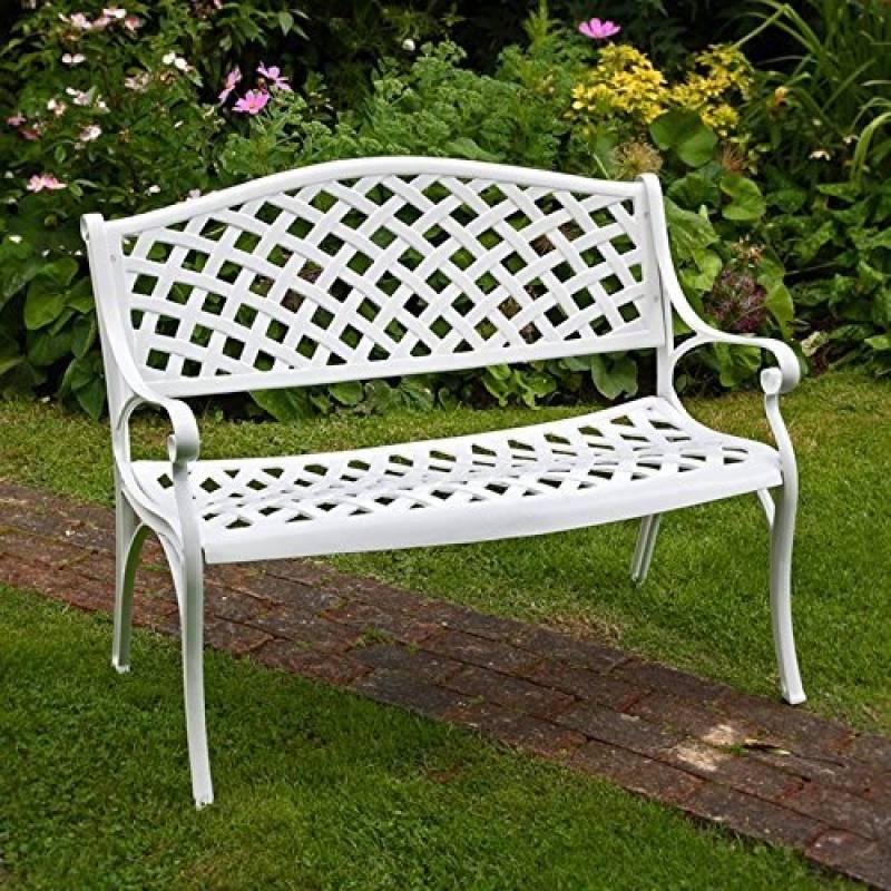 banc de jardin en aluminium blanc acheter les meilleurs. Black Bedroom Furniture Sets. Home Design Ideas