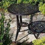 Lazy Susan - Table bistro IVY avec 4 chaises bistro IVY assorties - Salon de jardin en aluminium moulé, Bronze ancien de la marque Lazy Susan image 1 produit