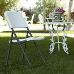 Lifetime Lot de 4 Chaises pliantes Blanc Granite 54,6 x 46,9 x 83 cm 80155 de la marque Lifetime image 2 produit