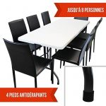 Linxor France ® Table de camping pliable avec poignée (L) 184 x (l) 76 x (H) 74 cm - 4 coloris - Norme CE - Blanc de la marque Linxor image 4 produit