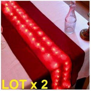 LOTX2 Chemin de Table Lumineux 50 leds Soirés de Fêtes de la marque Générique image 0 produit