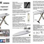 Mabi 2144 Nouveau Mabi Alu 1000 Table à repasser - avec cadre en aluminium - Kettler housse double revêtement aluminium - Légère - Portable - Large - Stable de la marque Mabi-Direct Brands by Mabi GmbH image 6 produit