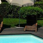 Maffei Art 12 Borgo, parasol rond diamètre cm 200, tissu polyma, Made in Italy. Couleur taupe de la marque Maffei image 5 produit