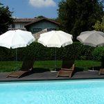 Maffei Art 12 Borgo, parasol rond diamètre cm 200, tissu polyma, Made in Italy. Couleur taupe de la marque Maffei image 6 produit