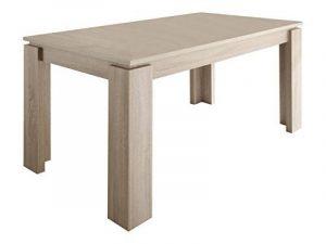 Maisonnerie 1100-162-45 Table de Salle à Manger Extensible Chêne Clair Rugueux LxHxP 160 x 90 x 77 cm de la marque Maisonnerie image 0 produit