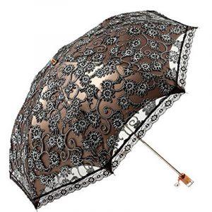 Mesdames parapluie parasol dentelle parapluie pliant Sun Shade anti-UV (Noir) de la marque MiiHome image 0 produit