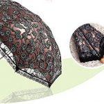 Mesdames parapluie parasol dentelle parapluie pliant Sun Shade anti-UV (Noir) de la marque MiiHome image 1 produit