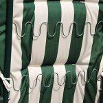Outsunny Lot de 2 Chaises Longues Pliantes de Jardin Bain de Soleil Transat Pliant Position Réglable Acier Vert et Blanc de la marque Outsunny image 3 produit