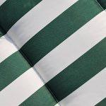 Outsunny Lot de 2 Chaises Longues Pliantes de Jardin Bain de Soleil Transat Pliant Position Réglable Acier Vert et Blanc de la marque Outsunny image 4 produit