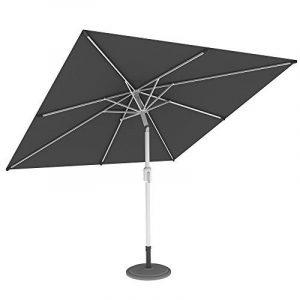 PARAMONDO Interpara parasol| Parasol pour jardin et balcon| 3 x 3m (carré / gris / compris support et le pied parasol (argent) de la marque Paramondo image 0 produit