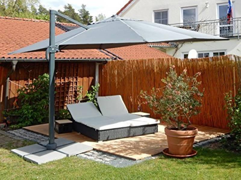 Parasol rectangulaire avec pied notre top 10 meilleur for Portent un parasol dans les jardins