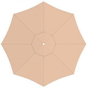 PARAMONDO Toile de rechange pour parasol avec Air Vent pour parasol Interpara (3,5m / ronde), crème de la marque PARAMONDO image 0 produit