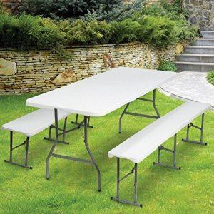 ProBache - Table pliante portable 180 cm et 2 bancs pliables pour camping buffet de la marque Probache image 0 produit